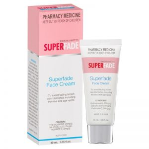 John Plunkett's Superfade face cream - to assist fading age spots, freckles and blemishes